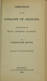 Cover of: Chronicle of the conquest of Granada by Washington Irving