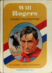 Cover of: Will Rogers, cowboy philosopher