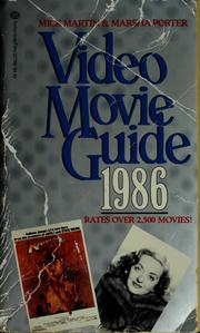 Cover of: Video movie guide, 1986