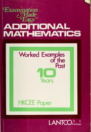 Additional mathematics by