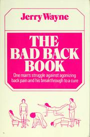 Cover of: Bad back book | Wayne Jerry