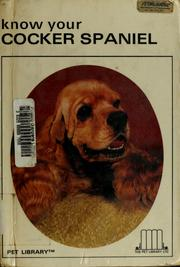 Cover of: Know your cocker spaniel