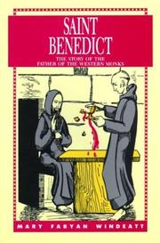 Cover of: Saint Benedict | Mary Fabyan Windeatt
