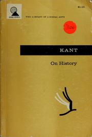 Cover of: On history. by Immanuel Kant