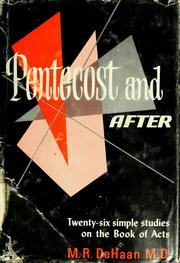 Cover of: Pentecost and after | DeHaan, M. R.
