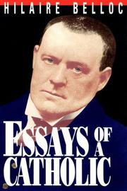 Cover of: Essays of a Catholic