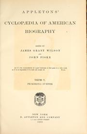 Cover of: Appletons' cyclopædia of American biography