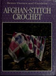 Afghan-stitch crochet.