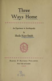 Cover of: Three ways home