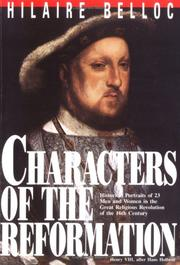 Cover of: Characters of the Reformation