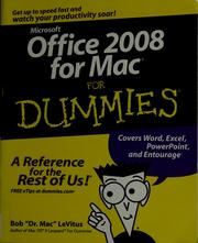 Cover of: Office 2008 for Mac for dummies