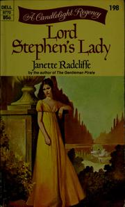 Cover of: Lord Stephen's Lady