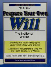 Cover of: Prepare your own will