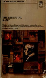 Cover of: The essential Kant