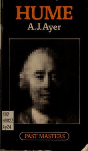 Cover of: Hume | Ayer, A. J.