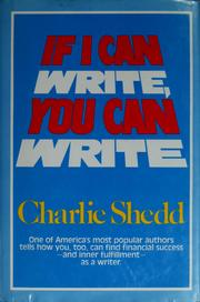 Cover of: If I can write, you can write