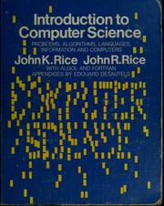 Cover of: Introduction to computer science | John K. Rice