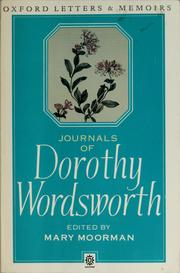 Journals of Dorothy Wordsworth by Dorothy Wordsworth
