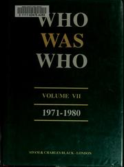 Cover of: Who Was Who |
