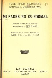 Cover of: Mi padre no es formal