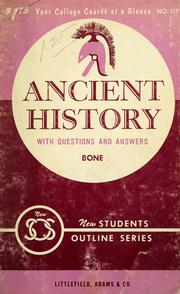 Cover of: Ancient history
