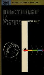 Cover of: Breakthroughs in physics