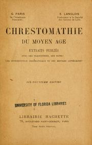 Cover of: Chrestomathie du Moyen Âge