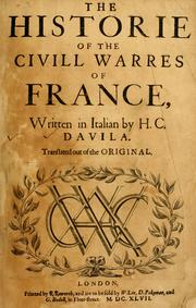 Cover of: The historie of the civill warres of France