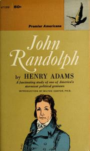 Cover of: John Randolph | Henry Adams