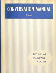 Cover of: Living language conversation manual, French