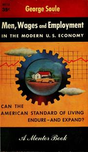 Cover of: Men, wages, and employment in the modern U.S. economy