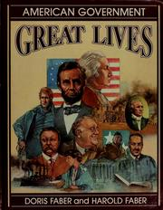 Cover of: Great lives: American government