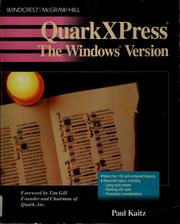 Cover of: QuarkXPress | Paul Kaitz