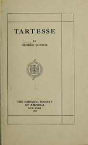 Cover of: Tartesse