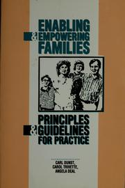 Cover of: Enabling and empowering families