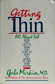 Cover of: Getting thin