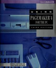 Cover of: Using PageMaker 4 for the PC