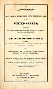 Cover of: An Accompaniment to Mitchell's Reference and Distance Map of the United States: Containing an ..