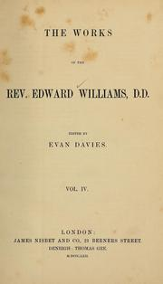 Cover of: The works of Edward Williams