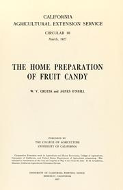 Cover of: The home preparation of fruit candy