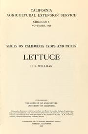 Cover of: Lettuce | H. R. Wellman