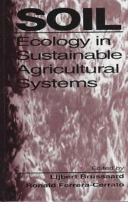 Cover of: Soil ecology in sustainable agricultural systems |