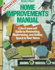 Cover of: Home improvements manual (updated) (Family Handyman) | Reader