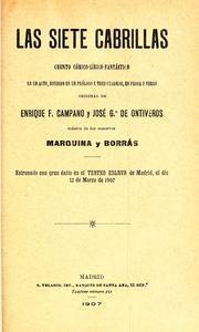 Las siete cabrillas 1907 edition  Open Library