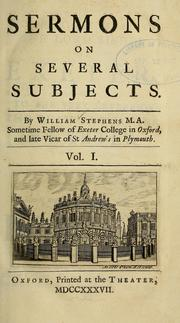 Cover of: Sermons on several subjects | William Stephens