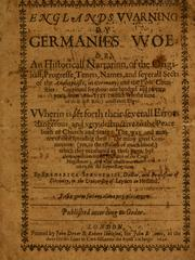 Cover of: England's warning by Germanie's woe