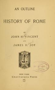 Cover of: An outline history of Rome