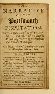 Cover of: A true narrative of the Portsmouth disputation | William Russell