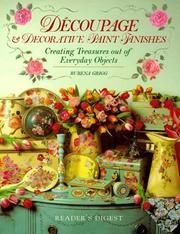 Cover of: Découpage & decorative paint finishes