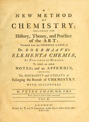 Cover of: Elementa chemiae